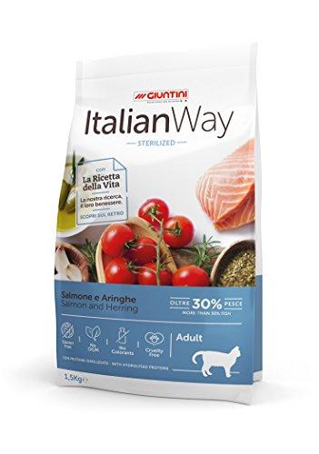 Italian Way Cibo per Gatti Sterilizzato Salmone e Aringhe - Adult - 1.5 kg