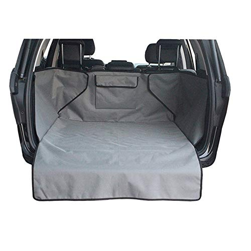 KJGHJ Pet Car Cover Waterproof Trunk Mat Dog Pets Cargo Liner Non Slip Car Protector Back Seat Cover Pockets For Auto Accessories (Color Name : Gray)