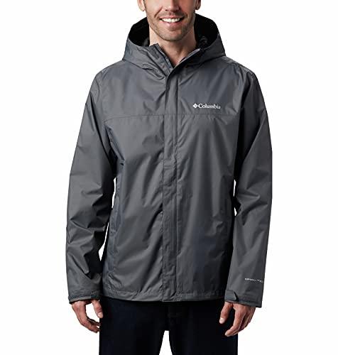 Columbia Men's Watertight II Waterproof, Breathable Rain Jacket, Graphite, Large
