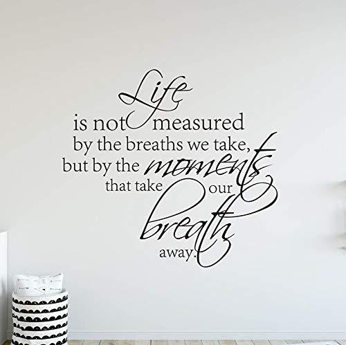 FXBSZ Anpassbare Größe Die Lebensdauer wird nicht durch Atmen gemessen sondern durch den Moment in dem der Atem verschwindet Dekorativer Vinyl-Wandaufkleber Nerz 70 cm x 64 cm