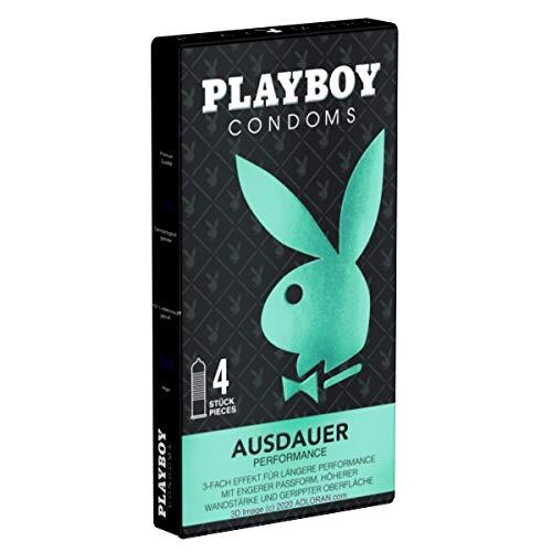 Playboy Ausdauer - 4 preservativi ritardante senza prodotti chimici