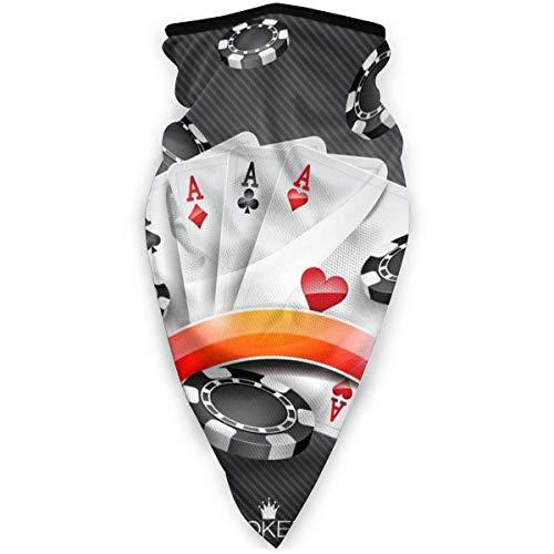 JKGHGRLG Máscara deportiva Poker Torneo al aire libre a prueba de viento máscara de esquí bufanda bandana hombres mujer negro
