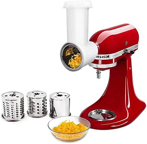 Aikeec KitchenAid MVSA Accesorio kitchen aid mesa cortadora/rebanadora para robots de cocina (accesorio opcional para batidoras de pie KitchenAid) plástico, Acero Inoxidable