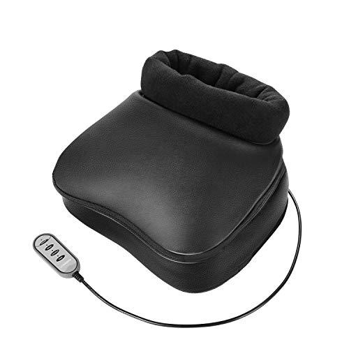 Naipo Shiatsu Fußmassagegerät mit Wärme, Elektrisch Fussmassage Rücken Massagegerät mit Kneading Vibration Abnehmbare Oberfläche für Füße und Körper Einfache integrierte Kontrollen