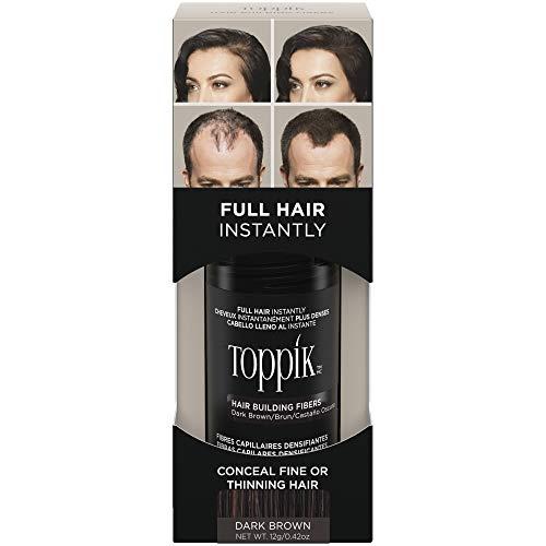 Toppik Fibre di cheratina per la costruzione dei capelli, Castano Scuro (Darck Brown), 12 g