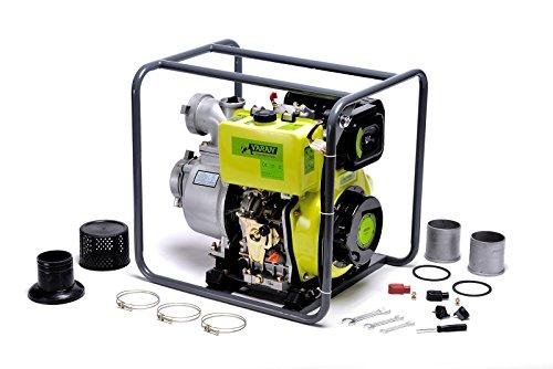 "Varan Motors 92707 Wasserpumpe Diesel Motorpumpe 4"" 418cc 10CV, Elektrostarter 96m3/h, 31m max."