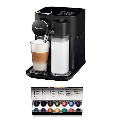 Nespresso De'Longhi Gran Lattissima EN650B - Cafetera Monodosis de Cápsulas (con Depósito de Leche Compacto, 9 Recetas, Apagado Automático) Color Negro, Incluye pack de bienvenida con 14 cápsulas