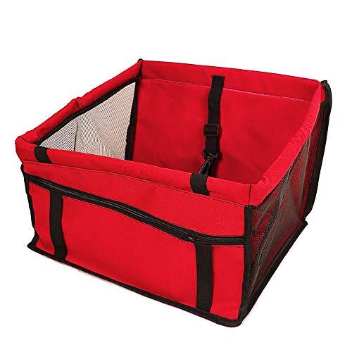 Loriver Zusammenklappbarer Hund Hund Katze Autositz Safe Belt Basket Booster Travel Carrier Bag