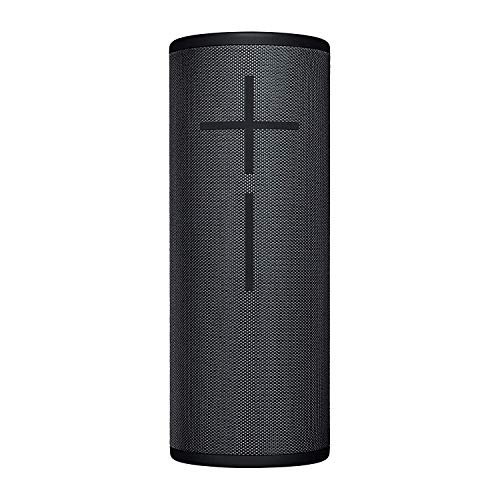 Ultimate Ears Megaboom 3 Tragbarer Bluetooth-Lautsprecher, 360° Sound, Satter Bass, Wasserdicht, Staubresistent & Sturzfest, One-Touch-Musiksteuerung, 20-Stunden Akkulaufzeit - night black/schwarz