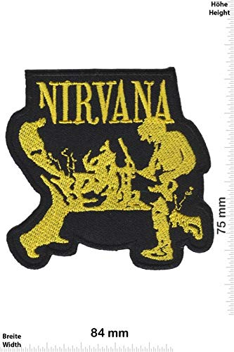 Nirvana Band Gold Patch Badge Applique Geborduurd IJzer op