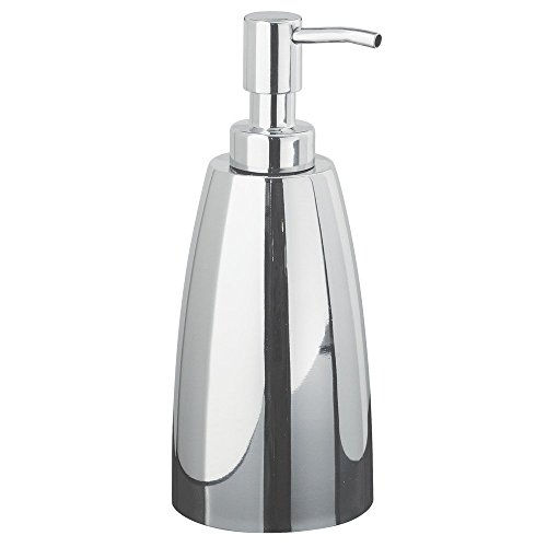 InterDesign Forma Stainless Steel Liquid Soap & Lotion Dispenser Pump for Kitchen or Bathroom Countertops, Polished