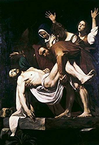 Posterazzi The Deposition Michelangelo Merisi da Caravaggio (1573-1610/Italian) Museums and Gardens Vatican Poster Print (18 x 24)