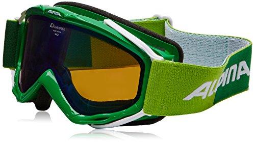 Alpina Erwachsene Skibrille Spice MM, Green-White, One Size, 7074873