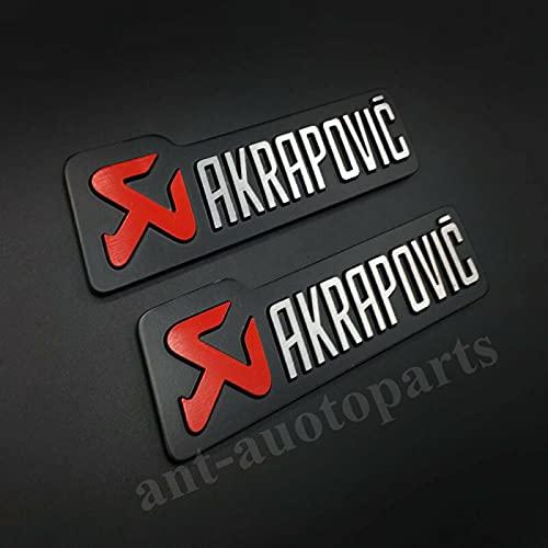 AOWIFT 2 x Akrapovic Auspuff-Emblem, hitzebeständige Folie, Auto-Emblem, Aufkleber