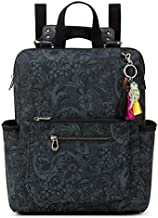 Sakroots Women's Eco-Twill Loyola Convertible Backpack, Black Spirit Desert