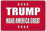 CDecor Donald Trump Red Make America Great Blechschilder,