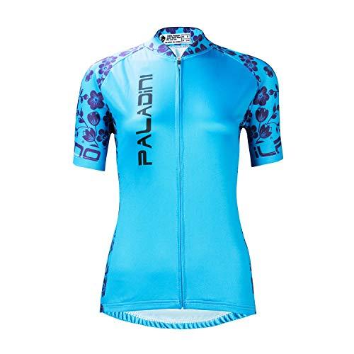 SOAR Ciclismo Conjunto de Ropa Maillot Ciclismo Mujer MTB Manga Corta,For El Deporte Al Aire Libre Biking De Ciclo Equipacion,Verano Transpirable De Secado Rápido (Color : Blue, Size : 2XL)