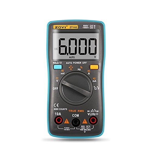 Best Buy! ZT101 ZT102 Digital Auto Range Portable Multimeter 6000 Counts Backlight Ammeter Voltmeter...
