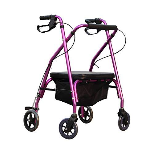 Hochwertige Tragbare Übung Walker Helfen Behinderten Walker Rollator Für Kinder Erwachsene Mini Gehen Aluminium Rollator Walker Fold Up Gepolsterten Sitz Ergonomische Griffe