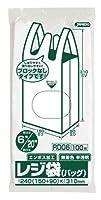 ジャパックス レジ袋(無着色) 省資源 関東6号/関西20号 ベロ付 100枚×20冊×4箱入