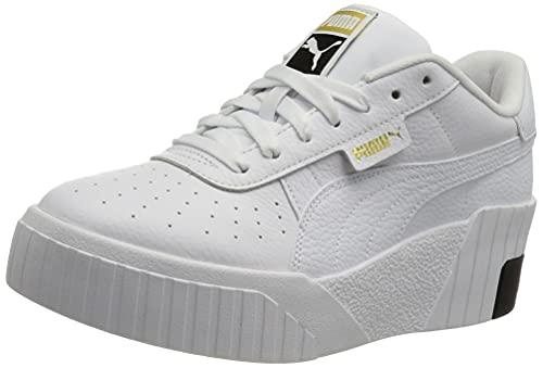 PUMA Cali Wedge Wn S, Sneaker Donna, White Black, 39 EU