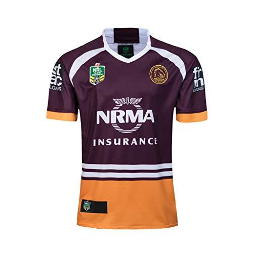 CRBsports Brisbane Broncos, Rugby-Jersey, Home Edition, Bestickter Neuer Stoff, Swag-Sportbekleidung (Rot, 2XL)
