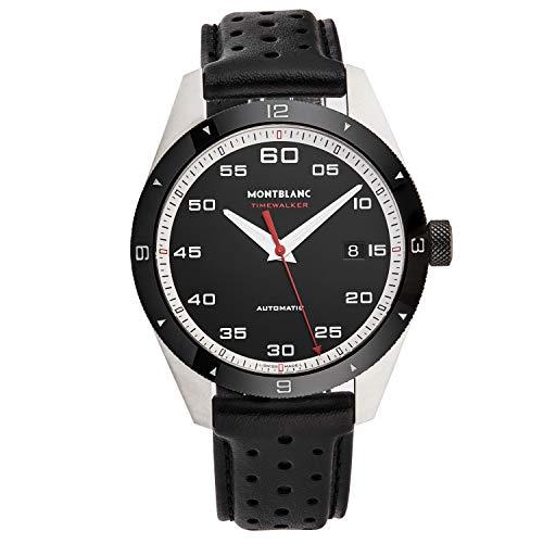 Montblanc orologio Timewalker Date 41mm nero automatico acciaio 116061