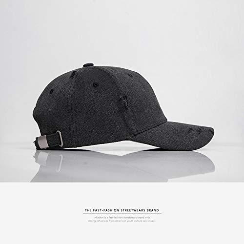 sdssup Marke Männer und Frauen Alten Loch Loch Kappe einfarbig Baseballmütze Sonnenschirm Hut dunkelgrau einstellbar getragen
