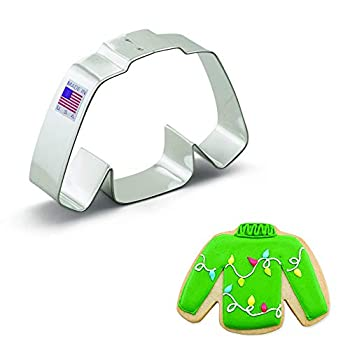 Ann Clark Cookie Cutters Ugly Wool Sweater Cookie Cutter 4.25