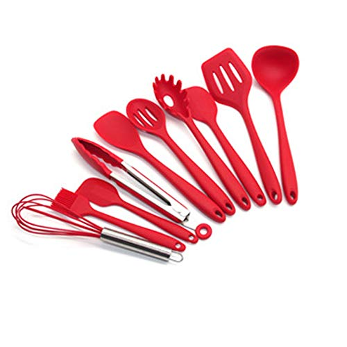 11Piece Food Grade Silicone Kitchen Utensils Silicone Kitchen Utensils Spatulas For Cooking Baking Non-Stick & Heat-Resistant Small Rubber Kitchen Gadgets Kitchen Utensil Sets With Cleaning Brush