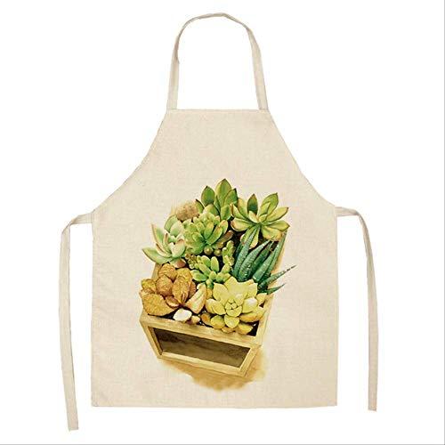 mhde Aprons 1 Stks Tropische Planten Cactus Keuken Schort Voor Vrouwen Thuis Koken Bakken Koffie Shop Katoen Linnen Schoonmaken Aprons 53 * 65Cm B B