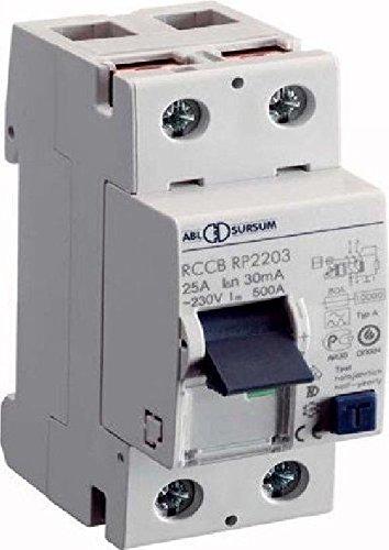 Preisvergleich Produktbild ABL Sursum FI-Schutzschalter RP2203 2p,  25A,  0, 03A Fehlerstrom-Schutzschalter 4011721100760