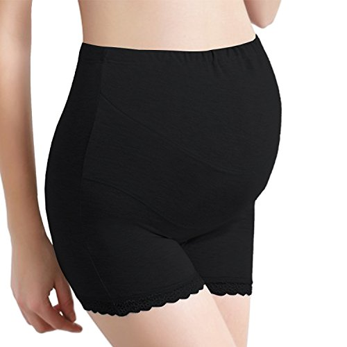 UTOVME Schwangere Unterwäsche Baumwolle hohe Taille Unterstützung Bauch verstellbar Superelastic Umstandsmode Unterhose Beige Größe M/L/XL/XXL/XXXL