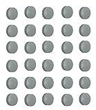 30x Magnete, Grau Ø 24mm, Haftmagnete für Whiteboard, Kühlschrankmagnet, Magnettafel, Magnetwand,...
