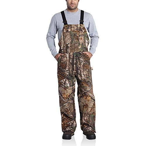 Carhartt Men's Quilt Lined Camo Bib Overalls,Realtree Xtra,Medium