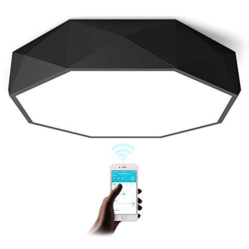 GPZ-iluminación de techo Lámpara de techo geométrica del LED, luces del dormitorio de la personalidad Estudio de Europa del norte moderno simple del estudio Iluminación de la sala de estar del restaur