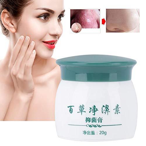 Crème de rosacée - Traitement de la rosacée Soins de la peau Pores Produits Herbal Nose Cream antibactérien pour soulager les rougeurs du visage, hydrater, supprimer les bactéries