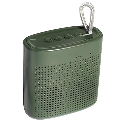 GANSS Mini Speaker,Portable Wireless Bluetooth Speaker Superb,Mini Stereo Speaker Outdoor Indoor with USB Disk Micro SD Card Slot, Built-in Mic,Enhanced Bass, Works for iPhone, iPad, Laptops (Green)
