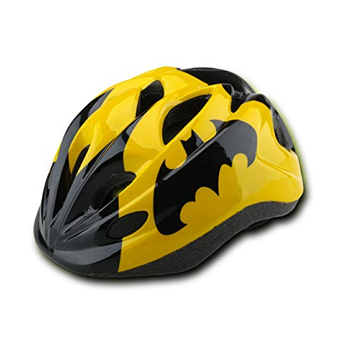 Yellow-Black Kids Child Bike Helmet Ultra-Light Adjustable Cute Stylish Outdoor Sports Head Protective Gear Stator Scooter Quad Cycling Bike Riding Child Toddler Helmets for Boys Girls Age 3-5 5-8