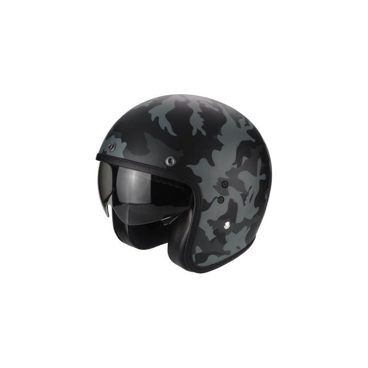 Scorpion casco mimetico moto belfast mission opaco nero-grigio l 2562_26272
