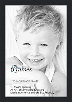 ArtToFrames 15x22 inch Black Picture Frame 2WOMFRBW72079-15x22