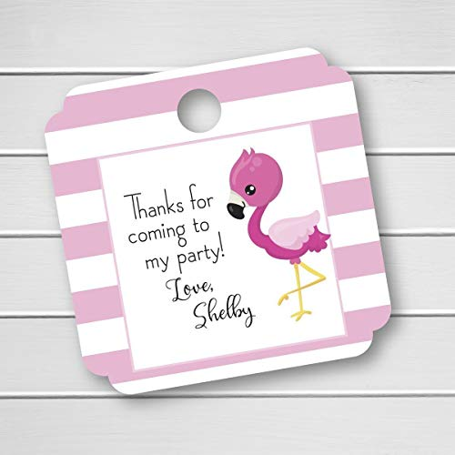 Flamingo Birthday Party Favor Tags, Thanks for coming to my party (MS-529)