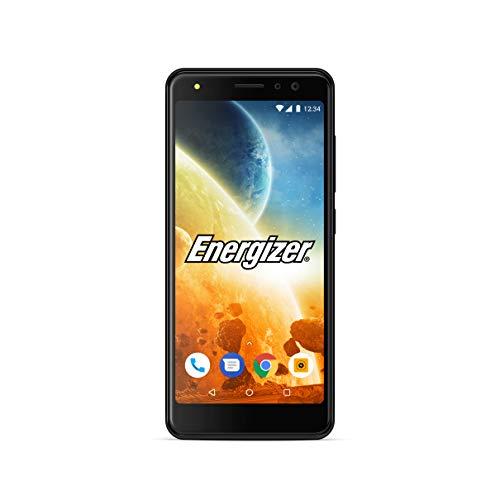 Energizer MOBILES AND ACCESSORIES POWER MAX P490S - Smartphone débloqué 4G - Prise EU (Écran : 4, 95 pouces - 16 Go - Double Sim - Android Oreo 8.1 Go Édition) Coque + Protection Incluses - Noir