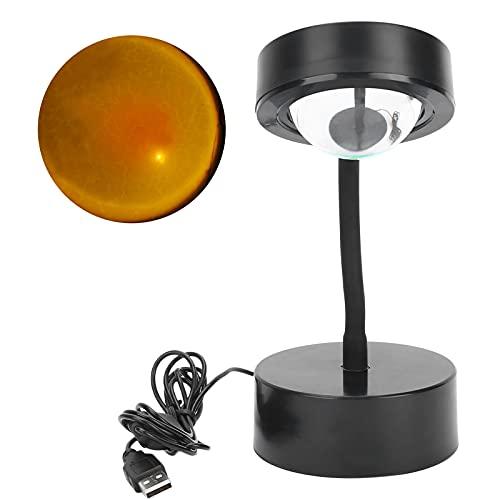 Ong Lámpara de proyección USB LED para proyector, Ahorro de energía y protección Ocular para el hogar y la Oficina(Sunset, Pisa Leaning Tower Type)