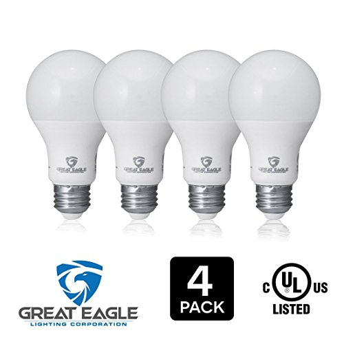 Great Eagle 100W Equivalent LED Light Bulb 1575 Lumens A19 or A21 Warm White 2700K Dimmable 14-Watt UL Listed (4-Pack)