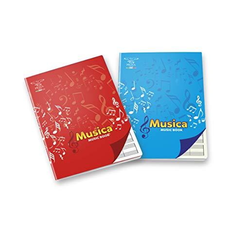 Pigna 0408197IN Quaderno Maxi Musica, 16 Fogli, Confezione da 10