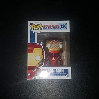 Robert Downey Jr. - Autographed Signed IRON MAN FUNKO POP 126 Vinyl Figure - Captain America Civil War - Marvel AVENGERS