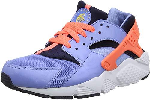 Nike Mädchen Huarache Run (GS) Laufschuhe,Mehrfarbig(Schwarz / Rosa / Weiß (Obsidian / Hyper-Rosa-Weiß), 38 1/2 EU