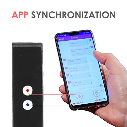 Smart Language Translator Device, Real Time Two Way Voice Translator Support 44 Languages Chinese English French Japanese Spanish Russian for Learning Business Travel Meeting (Black) Photo #4
