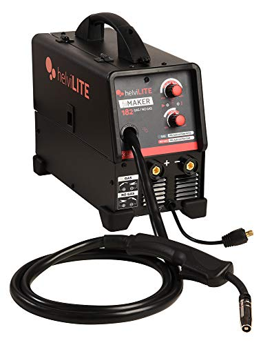 Helvilite 99820049 Schweißgerät Inverter Filmaker 182 ohne Gas mit Zubehör 230 V, Schwarz, Einheitsgröße